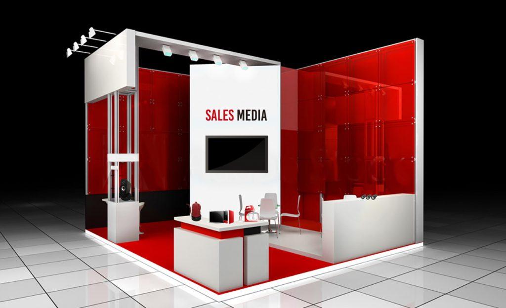 3Dの展示会ブースイメージ
